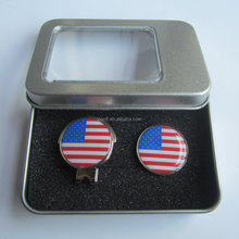 Brand new tin box packaged hat clip golf gift