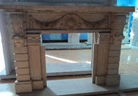 Hot Sale Cheap Price High Quality Yellow Marble Fireplace KSFL179