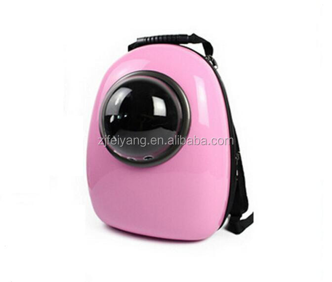 Top quality travel carrier Cat Dog pink Bag , Pet ABS capsule backpack with handle