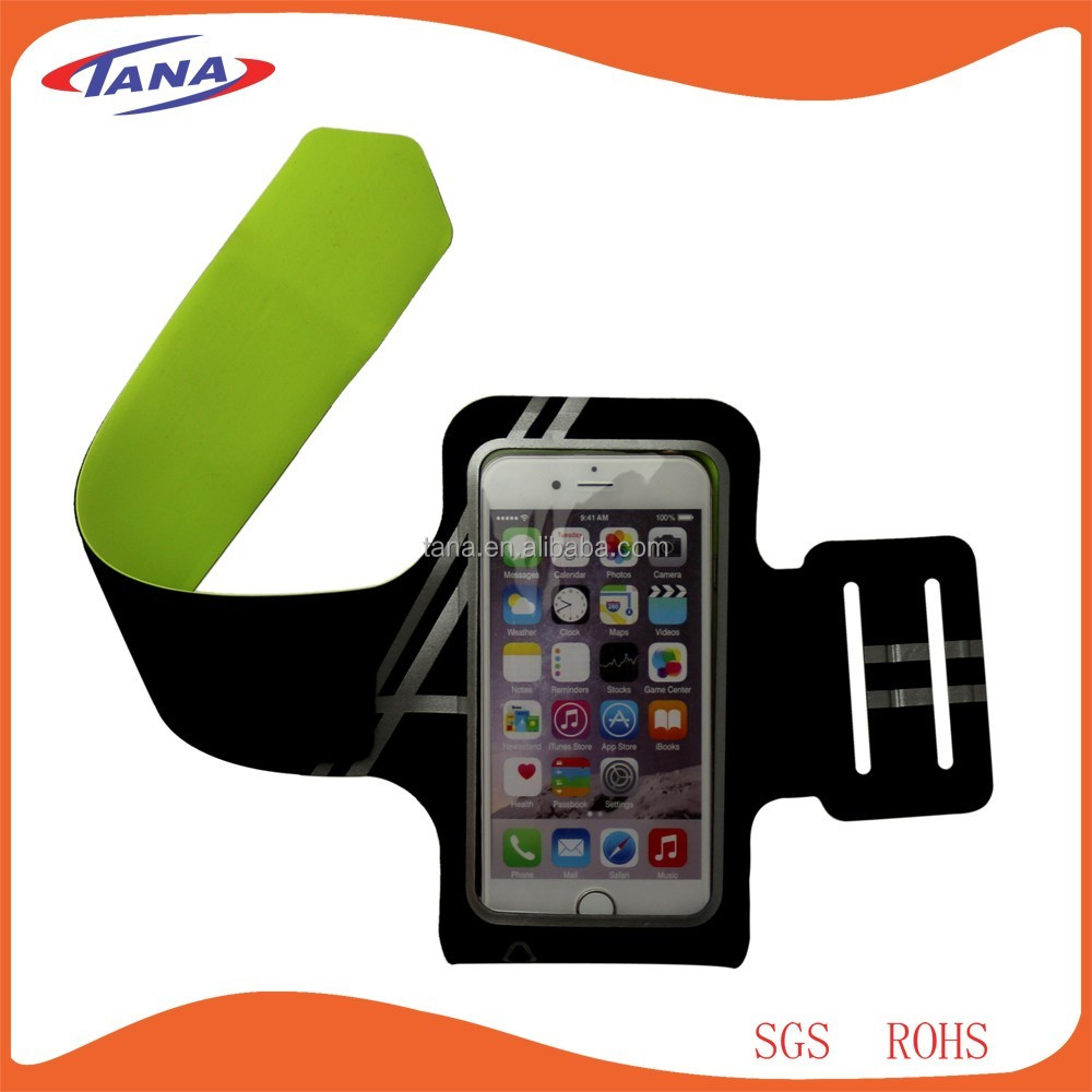 2016 Amazon best seller mobile phone Black lycra sports armband cover for iphone6