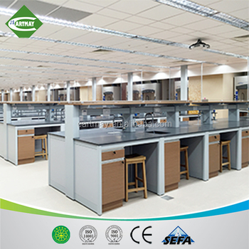 steel laboratory furniture with epoxy resin worktop