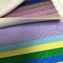 1.4mm Embossed bag use woven PVC synthetic leather