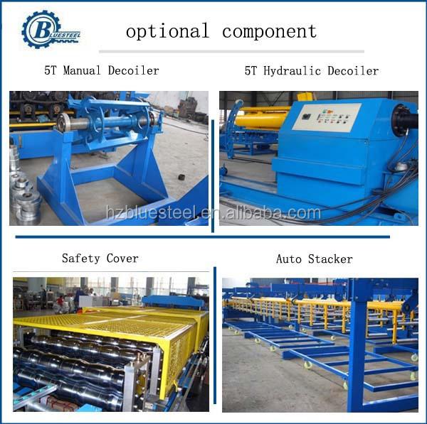 Tôles De Toiture en aluminium Faisant La Machine Machines Tôle De Toiture de Zinc