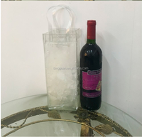 high quality logo printed promotional pvc plastic ice bag for wine
