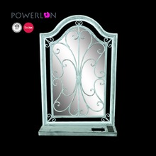 home decoration metal large wall led mirror