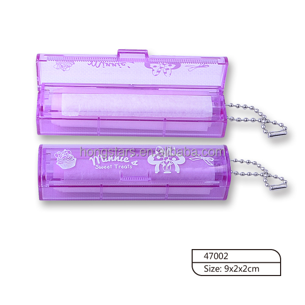 Latest style clear PS case with chain oil absorbing paper for face