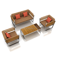 Outdoor garden stainless steel sofa set turkish used furniture