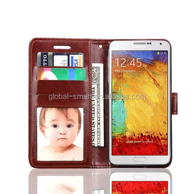 Luxury leather flip wallet case cross skin leather case for samsung galaxy s4 s5 s6 with credit card