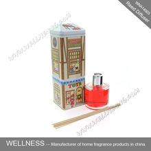 mini aroma reed diffuser in glass bottle