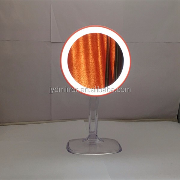 Rechargeable electric table stand led cosmetic mirror with 7X magnification
