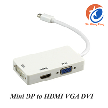 Best price Gold Plated 3 in 1 Mini DisplayPort to HDMI VGA DVI converter thunderbolt Adapter convert cable