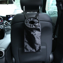 Universal Car Waste Bins Vehicle Back Seat Headrest Litter Trash Pocket Garbage Bag