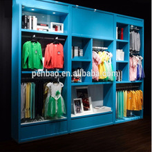 Modern Style Clothes Display Wood Cabinet garment shop decoration furniture