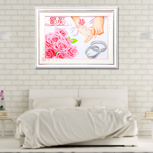 Hand Embroidery Cross Stitch Wall Art Picture Wedding Gifts