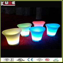 Plastic Party Events Club Bar Used Illuminated LED lighted Ice Bucket For Beer