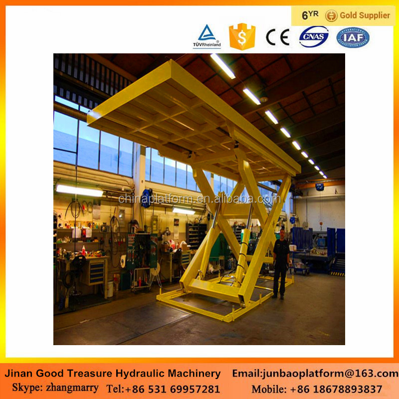 weight capacity customized hydraulic fixed scissor lift elevator platform for warehouse