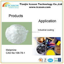 99.8% min crystal manufacturing raw material melamine powder cas 108-78-1