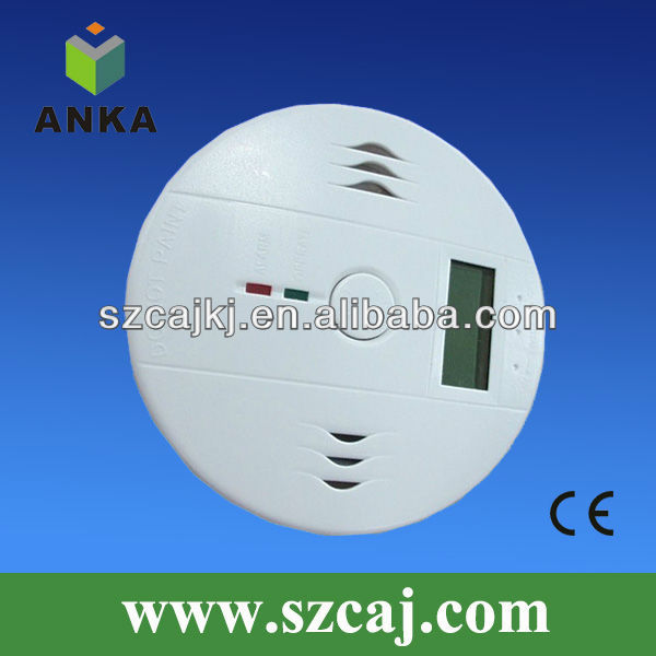 LI battery operated round carbon monoxide detector for car