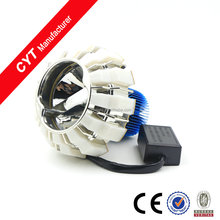 Fan Heat dissipation colorful Angel eyes for Motorcycle LED light Projector Lens Headlights