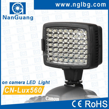 CN-LUX560 On camera LED video light camcorder light for Nikon Canon