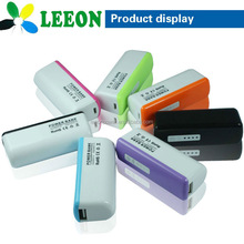 Smallest size power bank 2600mah/Portable leeon power bank manufacturer