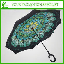Windproof Double Layer Car Reverse Open Inverted Umbrella