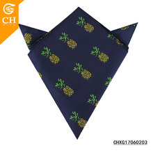 China Cheap Hand Embroidery Pineapple Pattern Polyester Handkerchiefs