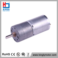 12V 24V 25mm Gearbox Permanent Magnet Dc Gear Reducer Motor with Low Rpm