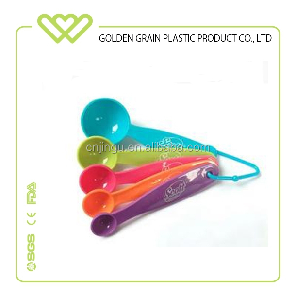 5 color measuring spoon set of 5 plastic spoon