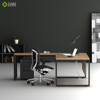 Modern L Shape Complete Executive Desk Office Furniture Set For Manager Table