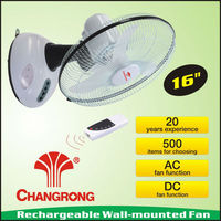 Rechargeable emergency 16'' ceiling fan with light battery
