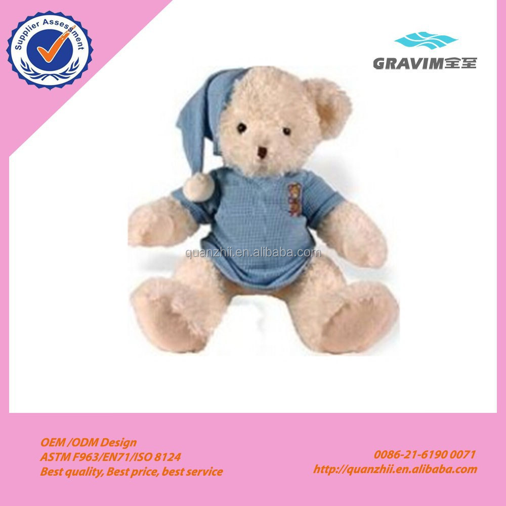 Plush teddy with hat and cloth baby toys