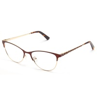 Luxury Fashion Metal Frame Demi Decor Eyeglasses Optical Frame For Girls In Wenzhou