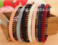 Colorful plastic hair bands with teeth