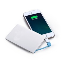 Easy carry promotional gift 2500mAh ultra thin credit card power bank