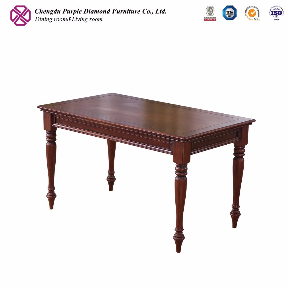 Mahogany dining room furniture antique design rustic wooden table