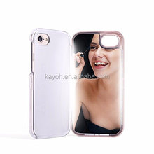 [kayoh] cell phone case with mirror, makeup case with lighted mirror for mobile phone