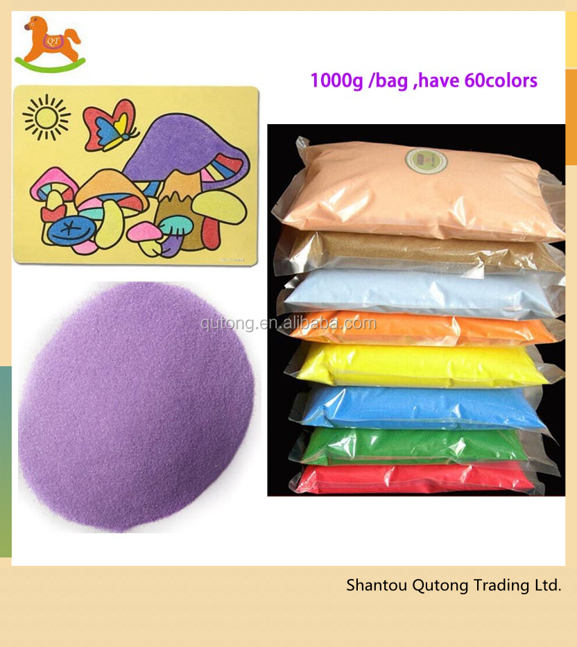 1000g fine sand in bag for sand art
