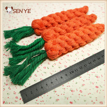Manufacture Price Carrot Shaped Vinyl Pet Cotton Rope Dog Sex Toy Wholesale