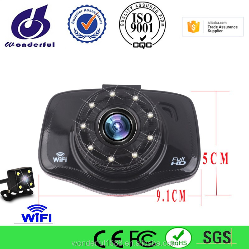 2016 dual lens car camera /3.0 inch dual camera vehicle black box /car dvr camera dual lens wifi