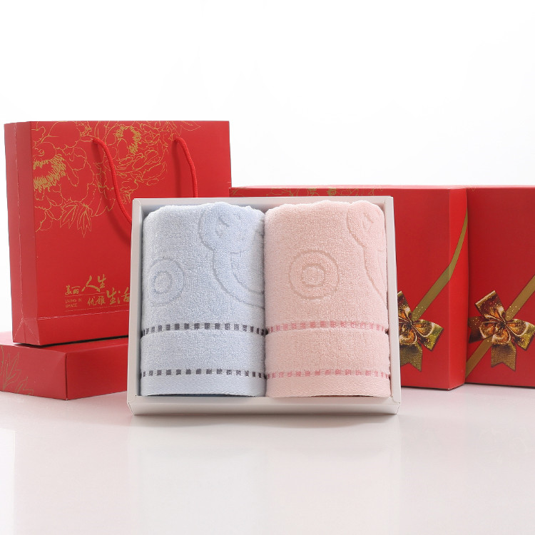 factory price super cheap face towel /door gift towel gift towel set packing