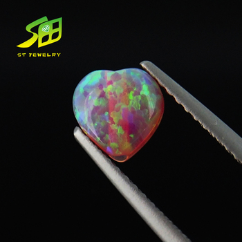 Hot sale heart-shaped opal gemstone for jewelry synthetic opal wholesaler