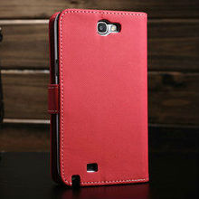 book style jean material stand flip wallet screen protector case for n7100