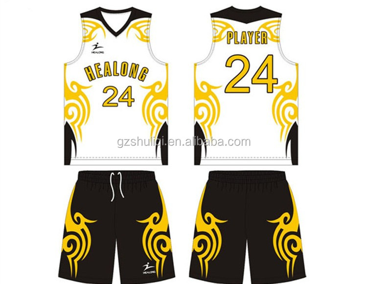 Wholesale latest best basketball jersey design 2016