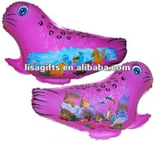 2012 hotting sea dog shaped mylar balloon