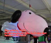 Hanging Inflatable Snoopy Model Cartoon with LED Lights