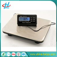 PCR 150KG 200KG 300KG stainless steel digital shipping postal scales with blue backlight