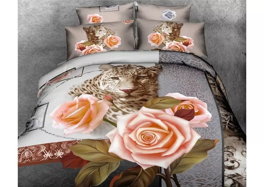 100% polyester 3d design 3d printed bedding set