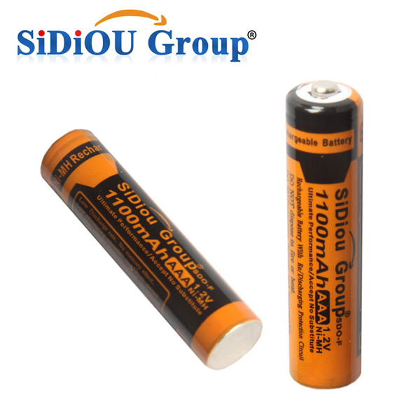 Sidiou Group 1100mAh Rechargeable Ni-MH Battery AAA Or No.7 nickel cadmium rechargeable battery Pack 1.2v