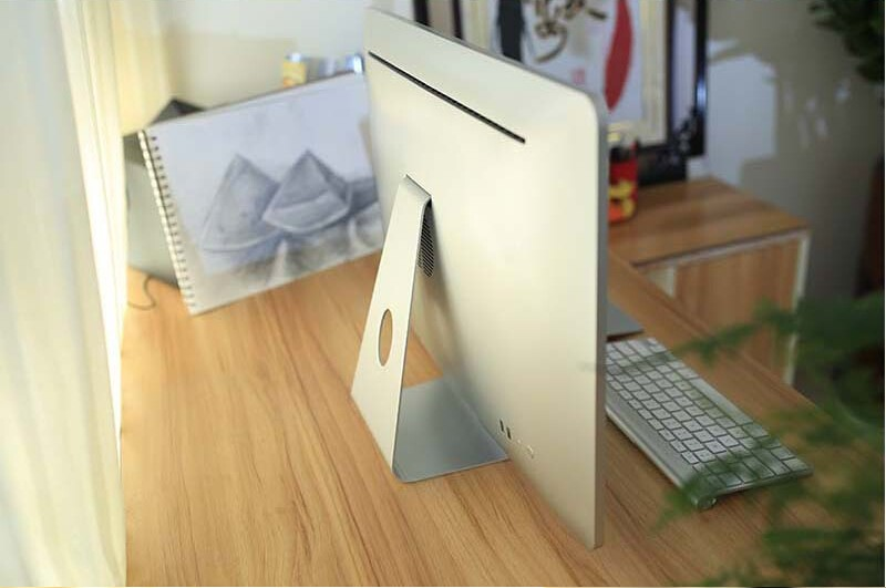 "new very Cheap Thin fanless white 23.6"" assembled desktop computer all in one PC"